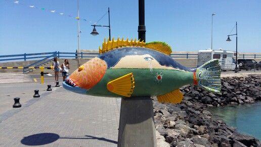 Streetart Corralejo pier Fuerteventura Canarias