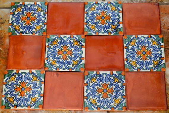 12 Mexican Talavera Tiles Hand Painted 4 X 4 In 2020 Talavera Tiles Mexican Talavera Talavera