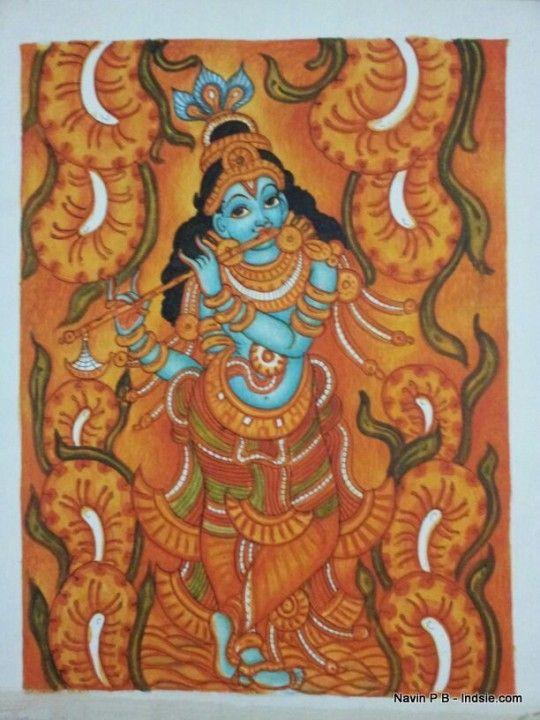 936 best kerala mural art images on pinterest mural art for Asha ramachandran mural painting