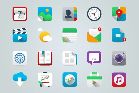 I just released App & UI Icons IOS Style on Creative Market.