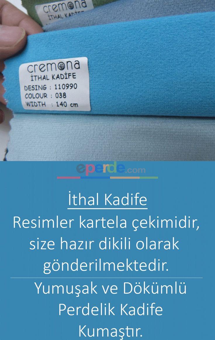 Mavi Kadife Fon Perde 110990-038