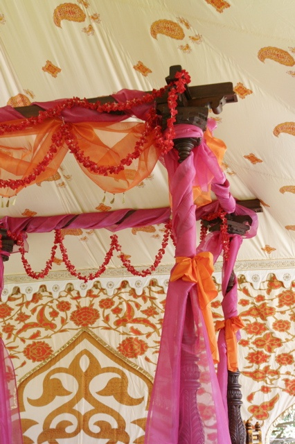 Indian Wedding/ @Amber Mccaig this would be great on the girls canopies maybe a little more flowy though but pretty!!!