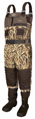 Drake Waterfowl MST Eqwader 2.0 Breathable Insulated Boot-Foot Wading for Men - Mossy Oak Shadow Grass Blades - 9 Regular
