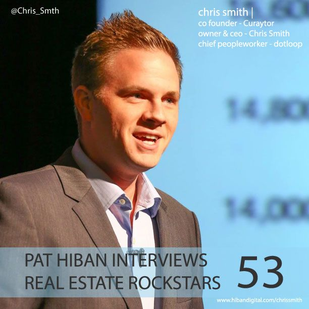 Chris Smith is the co-author of Peoplework, co-founder of Curaytor, and the co-host of Water Cooler, the popular weekly web-show about marketing and technology. Recently named the most influential person in the real estate industry Chris also works for dotloop... #realestate #podcast #pathiban #hibandigital #hibangroup #HIBAN #realestatesales #realestateagent #realestateagents #selling #sales #sell #salespeople #salesperson #chrissmith