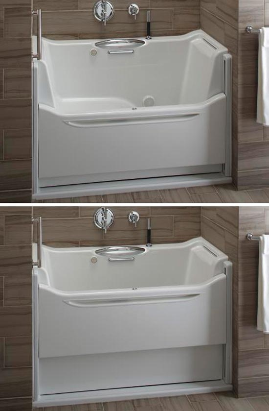 Kohler easy access tub.  Not only accessible but also probably easier to clean.