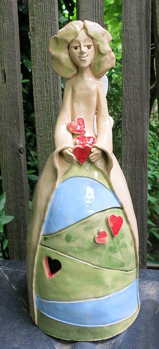 e-keramika / keramický zvonec - anjel