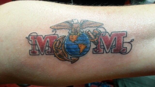 My Marine Mom Tattoo.