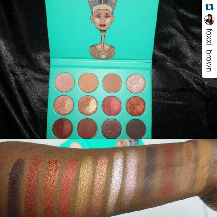Swatches for the Nubian Palette! 23.50, free S&H from Juvia's Place!