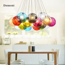 Nordique pendentif en verre lampe lampes de salon moderne éclairage salle à manger romantique lustres en verre hanging chambre lumière(China)