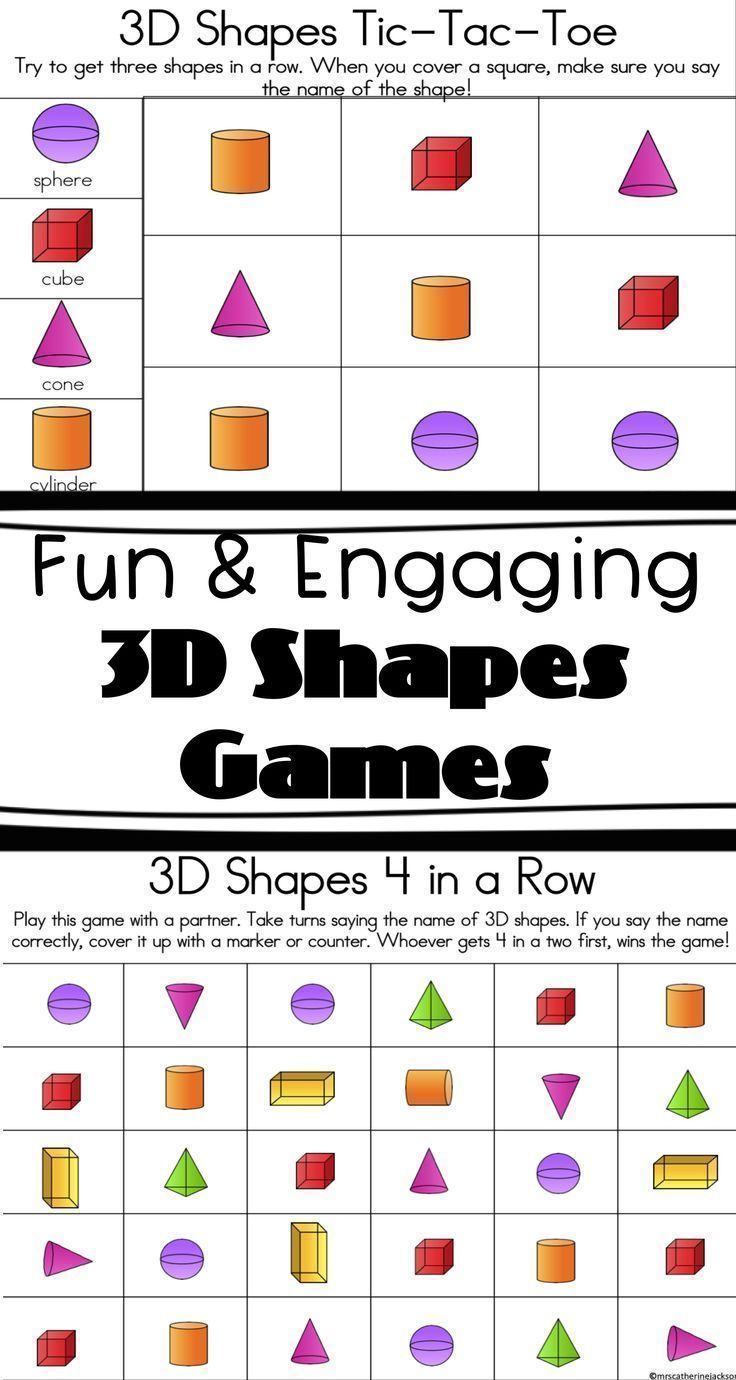 Math games can be a great way for students to reinforce math concepts!  These three engaging games focus on 3D/3-dimensional shapes (their names  and their ...