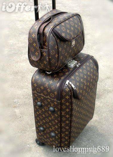 Large Louis Vuitton luggage Set suitcase bag