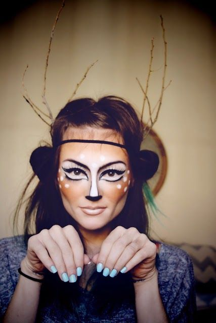 Halloween Costume Ideas / amazing deer makeup!