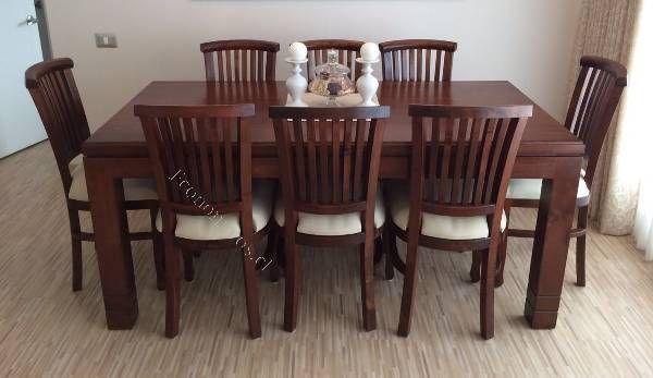 Comedor madera raulí, 8 sillas NUEVO 2016-09-03 Economicos ...