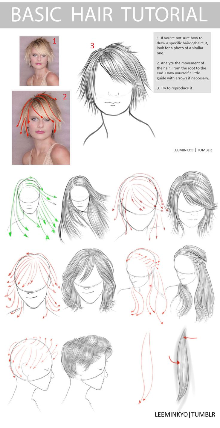 Hair drawing Cabellos