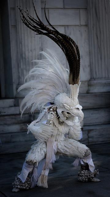 An Aztec Dancer for Día de los Muertos (Day of the Dead) festival in Los Angeles