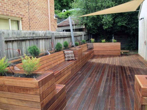 Top 60 Best Deck Bench Ideas Built In Outdoor Seating Designs Backyard Seating Deck Planters Backyard Patio