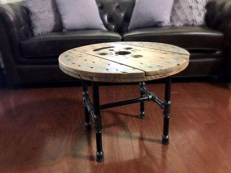 Spool table. Round Rustic Reclaimed Wooden Spool Coffee Table | Home & Garden, Furniture, Tables | eBay!