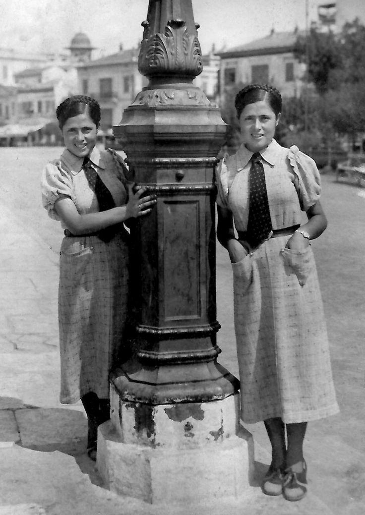 Διπλό πορτραίτο της Άννας Γούδα στις αρχές της δεκαετίας του 1940