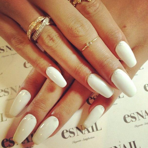 Cassie's white nails. ...
