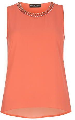 Womens coral top from Dorothy Perkins - £28 at ClothingByColour.com. Warm  SpringBright SpringSoft ...