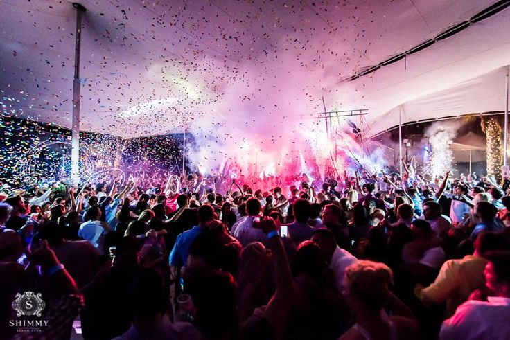 Party on beach at Shimmy Beach Club. This was our legendary New Year's Eve party