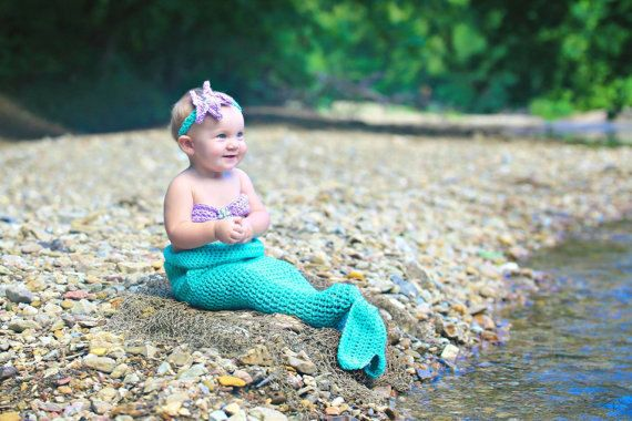 Mermaid Outfit 12-24 Months-Mermaid Tail-Baby by ALittleLadyandMe