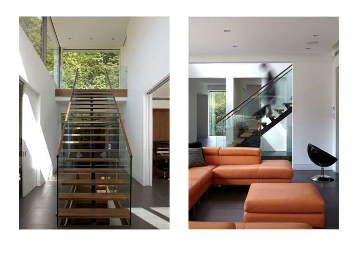 #Stairs, #modern, #Surrey, #Hallway, #Furniture, #living, #Room