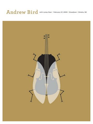 Andrew Bird Concert Poster, if you haven't seen his version of Tenuousness from in the basement then you're missing out
