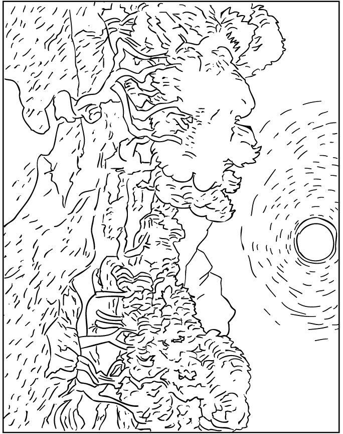 coloring pages van gough - photo#22