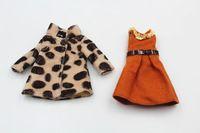 Blygirl Blyth puppe Leopard mantel orange kleid zwei arten für 1/6 puppe Blyth puppe