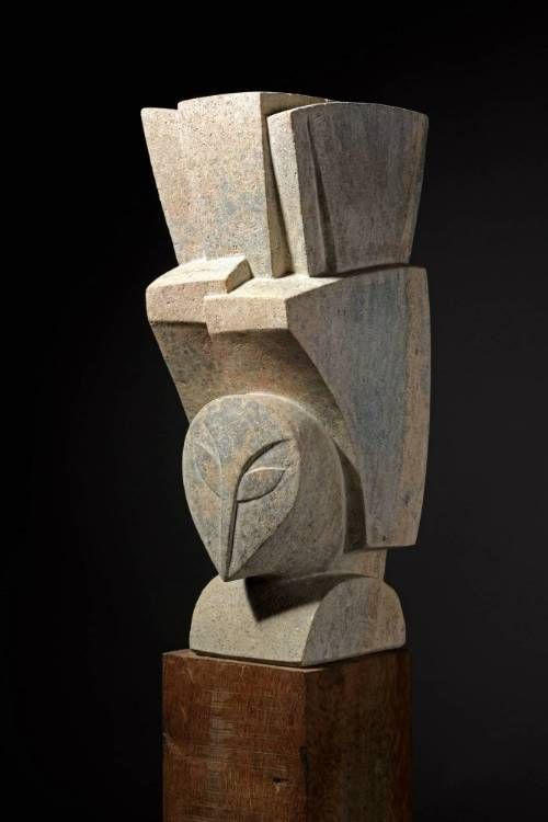 'Bird Alighting' George Kennethson, 1970. Carved from Clipsham stone.