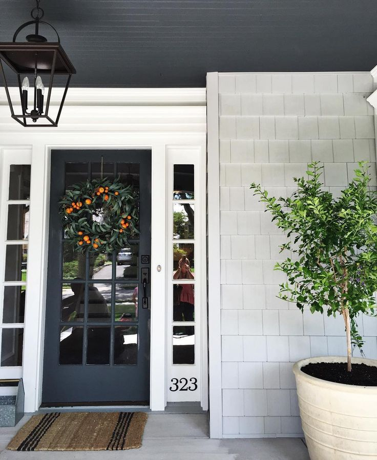 Just finished this install and I'm in love with how the front porch came together.  #haddonfieldproject || STUDIO MCGEE
