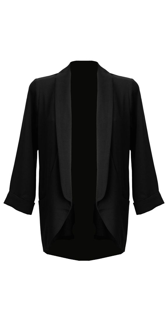 Kick any outfit up a notch with this killer blazer. It's comfortable and lightweight, making it easy to wear and super flattering. There's no need to worry about structured lining to limit your movement as this piece is all about the free flowing movement. Definitely one of our fav pieces this season. •Relaxed lightweight blazer •Unstructured (not lined) for a free flowing look •Pockets on front •Boyfriend cut •Longer length •97% Polyester, 3% Spandex
