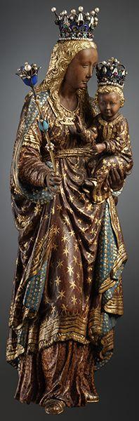 Virgin and Child  (statuette d'une vierge noire, Cathédrale Saints Michel et Gudule, Bruxelles)