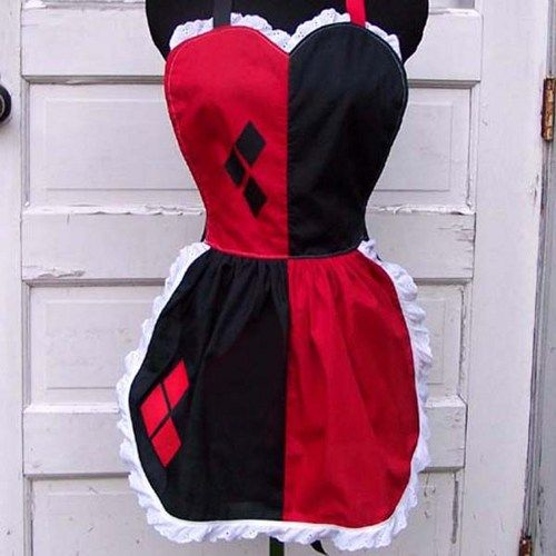 Harley Quinn Apron Cosplay Costume Harlequin Batman | PoppysGardenGate - Accessories on ArtFire