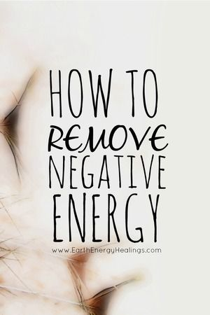 Learn how to remove and release energy that is no longer serving you