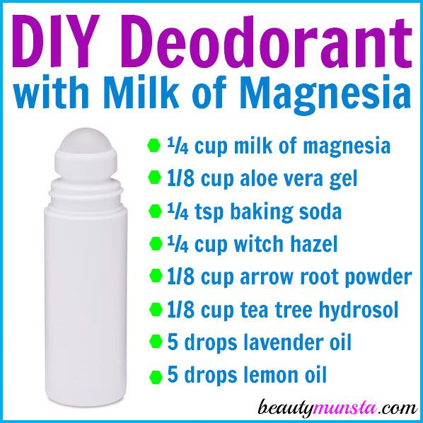 Follow this DIY milk of magnesia deodorant recipe to make a homemade deodorant that you'll be very pleased with! It works effectively and smells great! Milk of magnesia is the common name for magnesium hydroxide. It is a remedy for a wide variety of health problems including insomnia, constipation, heartburn, indigestion and more. It can …
