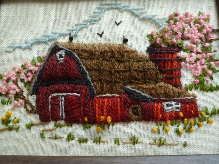 Embroidered Barn.
