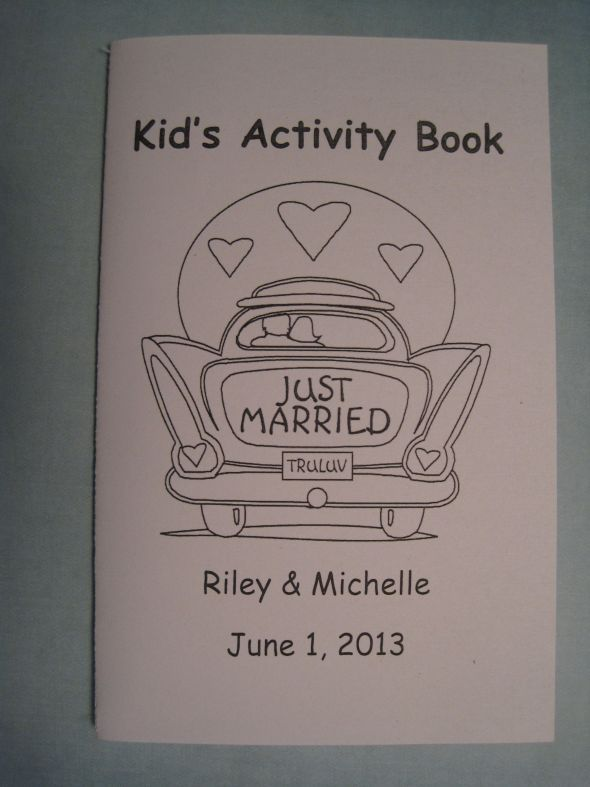 Wedding kid book, a must need since there will be tons and tons of little kids at my wedding!