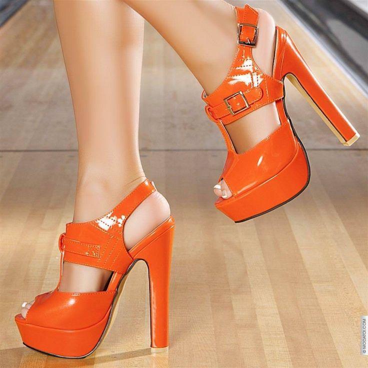 Orange heels. ❣Julianne McPeters❣ no pin limits