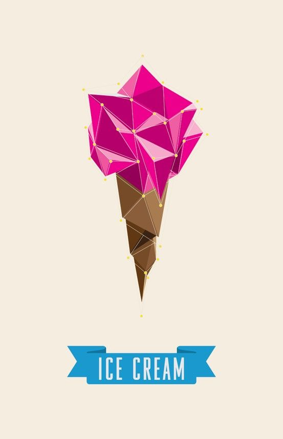 I really like this geometrical design and colors used in this. I would maybe change the blue to the pink used above or put it over the cone in order to tie it all together