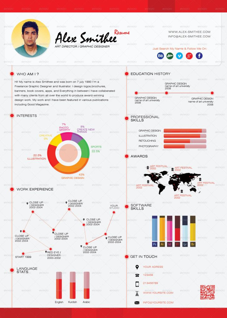 top 5 infographic resume templates via tech infographics jobs central pinterest