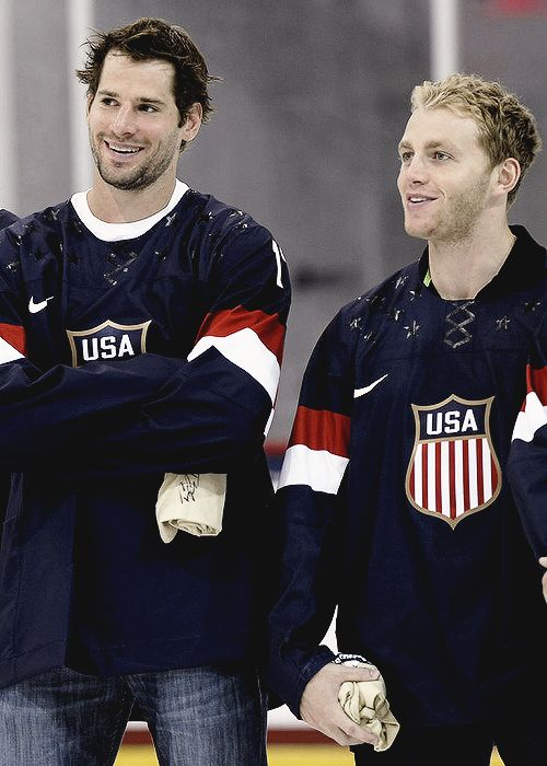 Oh, there are other countries besides Canada that play hockey and we're supposed to acknowledge their existence? Ryan Kesler and Patrick Kane for USA Hockey.
