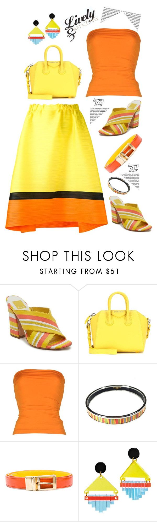"""""""Lively & Amazing'"""" by dianefantasy ❤ liked on Polyvore featuring Dolce Vita, Givenchy, Plein Sud, Hermès, Dolce&Gabbana, Toolally, Pleats Please by Issey Miyake, polyvorecommunity, happyhour and polyvoreeditorial"""