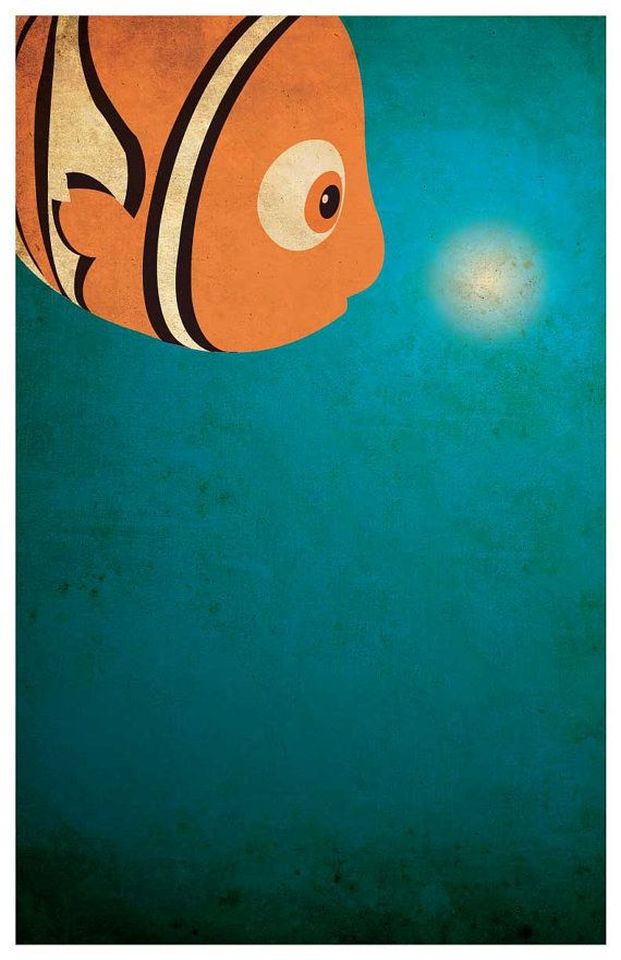Finding Nemo | 28 Minimalist Posters For Your Disney-Themed Nursery