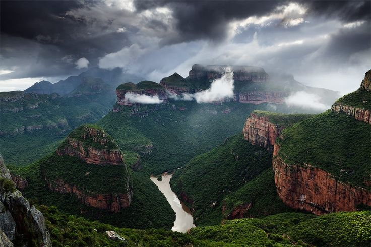 View of the magnificent Blyde River Canyon, Mpumalanga - South Africa.