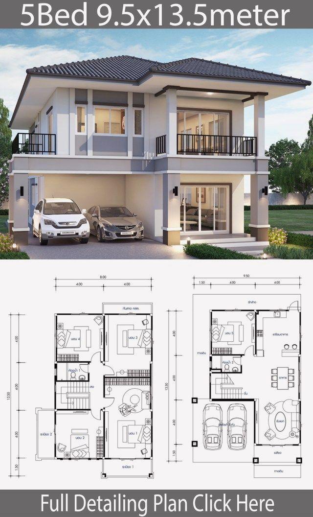 12 Duplex House Design With Floor Plan In 2020 Duplex House Design Modern House Plans Diy Tiny House Plans