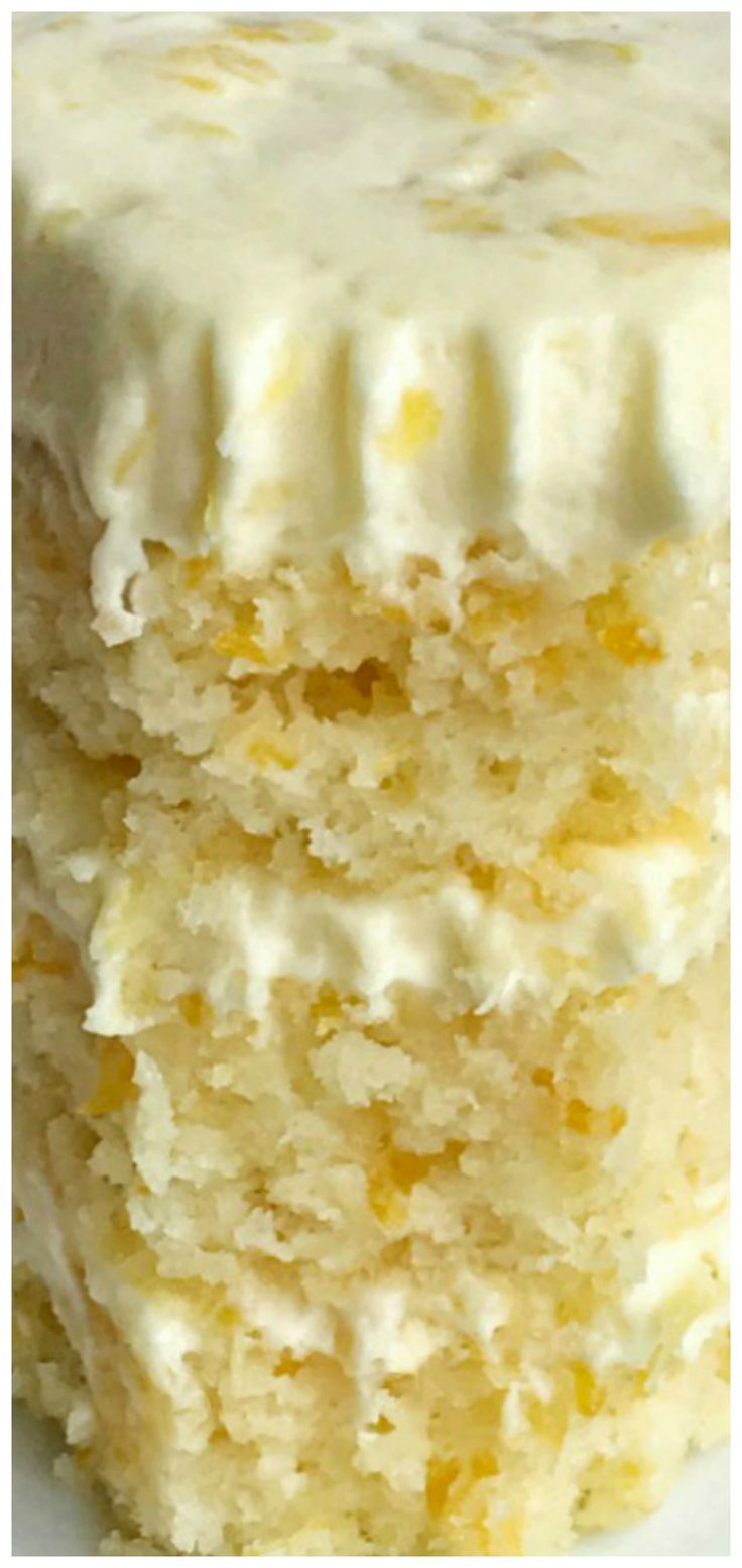Orange Pineapple Layer Cake ~ The cake is so incredibly moist, light, and fresh tasting.