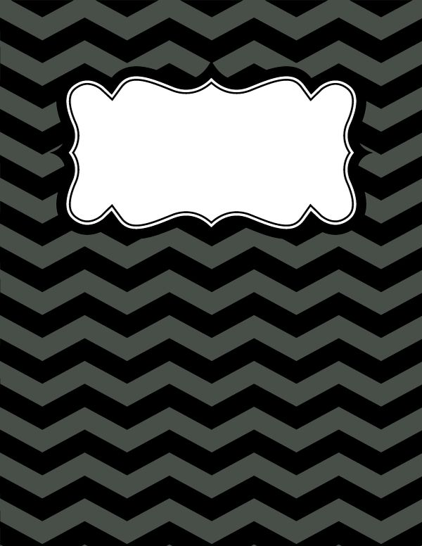 Black And White Chevron Binder Cover : Ideas about chevron binder covers on pinterest