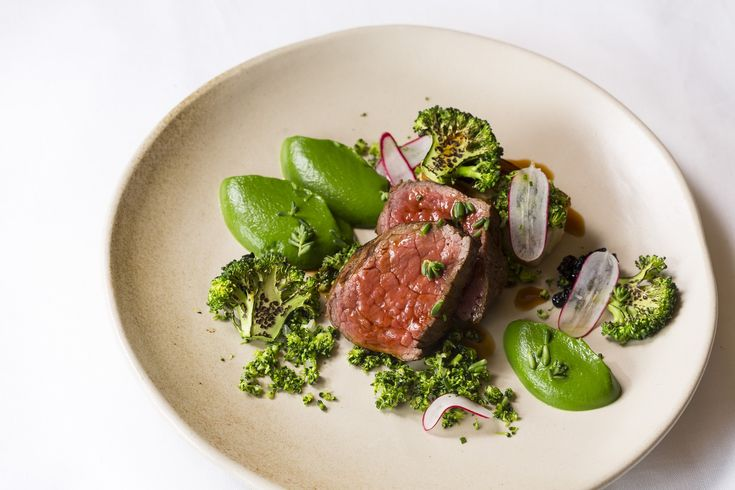 SOUS VIDE BEEF AND BLUE CHEESE WITH BROCCOLI AND SMOKED POMMES ANNA - For beef that melts in the mouth and for flavours that will blow you away, you must try this sous vide recipe from Great British Chef Ollie Moore.